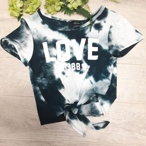 "Rebel Sugar tie-dye ""Love 1988"" Tshirt  Size XS"